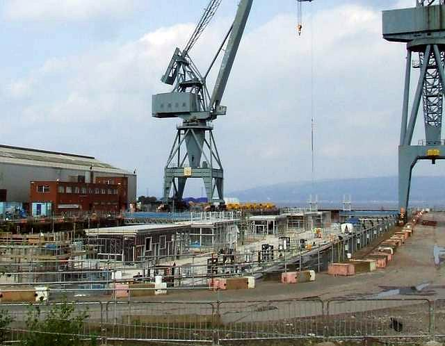Floating jetty build for Faslane base, 2008