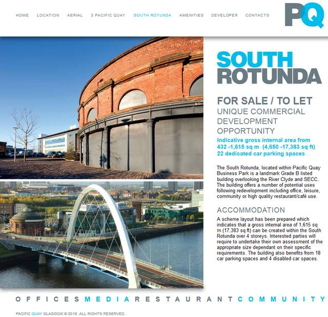 South Rotunda online ad, 2016