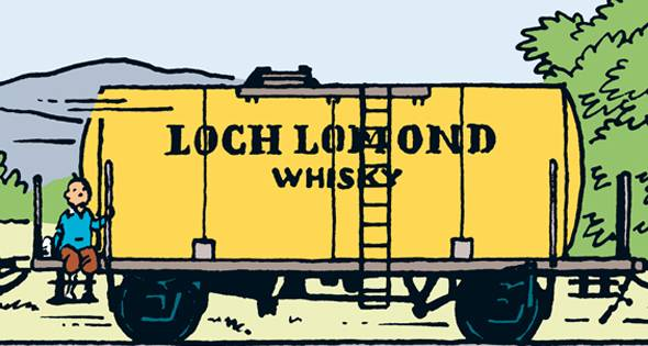 Tintin Loch Lomond Whisky