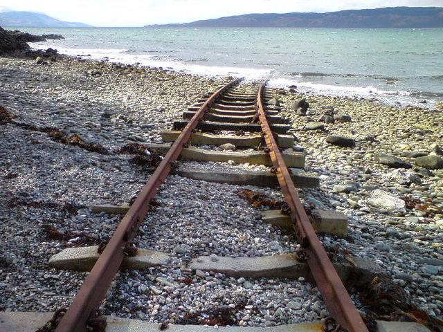Railway on Kilbride beach, 2008